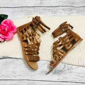 Indigo Rd. Brown Studded Roman Sandals Size 8M